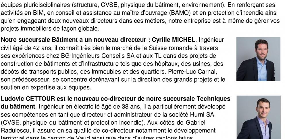 CSD Ingénieurs SA • Fribourg