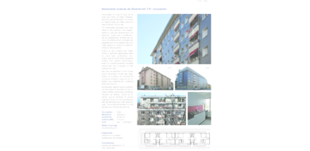 Immeuble avenue du Grammont 7-9 - Lausanne