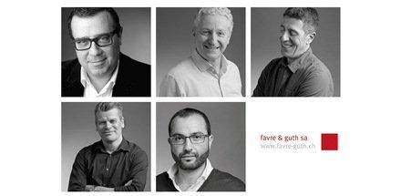 Patrice Bezos, Jean-Claude Peguet, Fabio Ricchetti, Daniel Margari et Nabil Oulhaci